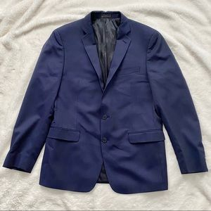 GUC Men's Calvin Klein Blue Pinstripe Suit Jacket